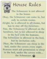 House Rules for Schnauzers