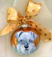 homemade dog ornament