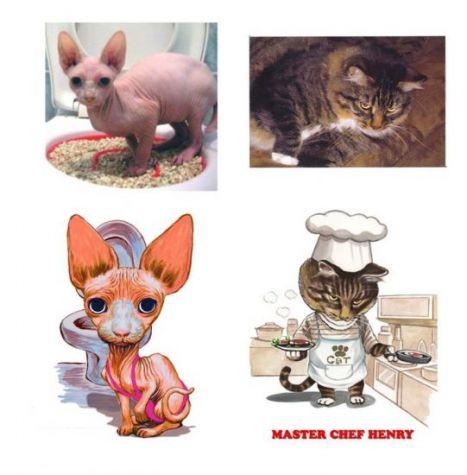 cat caricature