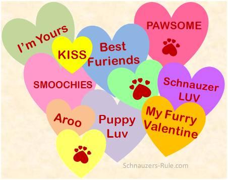Dog Valentine Heart Messages