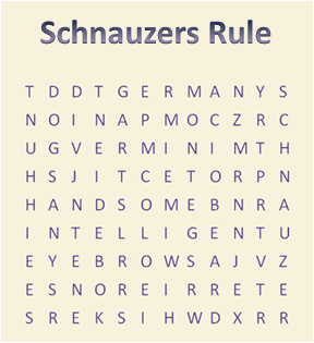 Schnauzer Word Search Puzzle