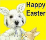 Easter ecard, dog ecard, schnauzer card