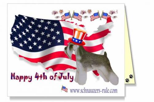 Fourth of July dog ecard
