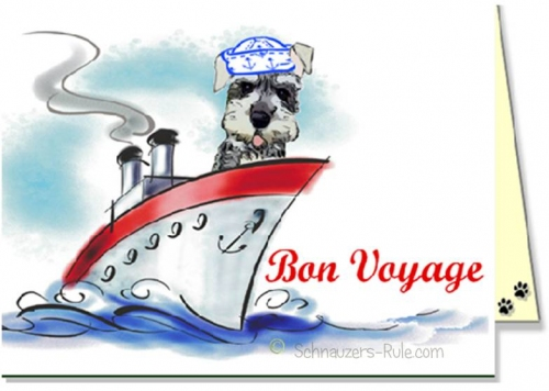 Schnauzer dog ecards retirement travel e card bon voyage ecard dog ecard schnauzer card m4hsunfo