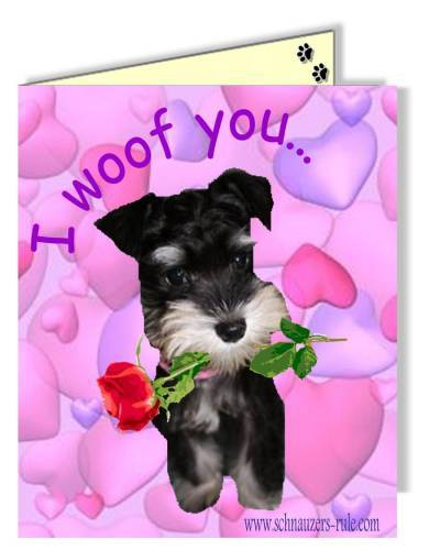 Choose the dog that stars in your animated ecard. ecard-valentine
