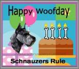 Pet Birthday e-card, dog ecard, schnauzer card