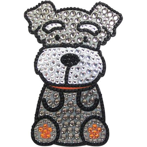 foufou dog rhinestone sticker