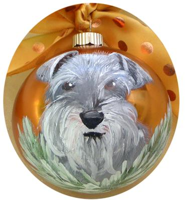 Nina the Mini Schnauzer ornament