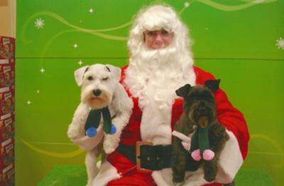 Jack and Jorja with Santa