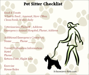 pet sitter instructions template selo l ink co