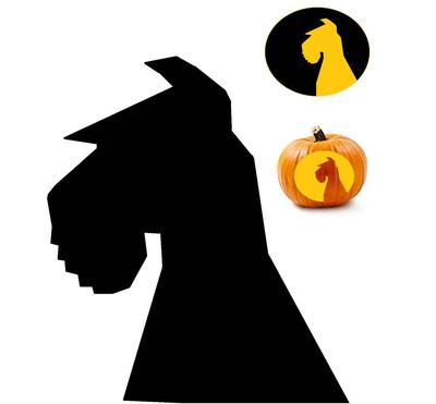 Schnauzer Pumpkin Silhouette