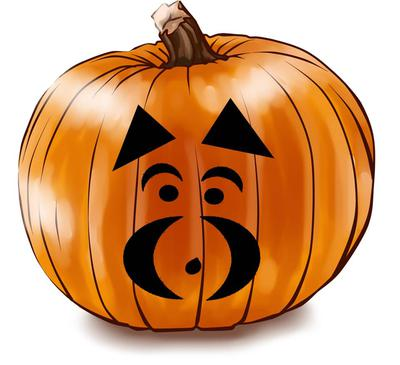 Simple Schnauzer Pumpkin