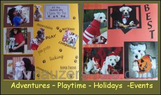 schnauzer dog scrapbook
