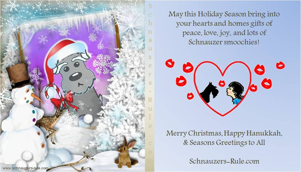 Schnauzer Holiday Card