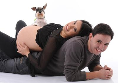 All family waiting of baby