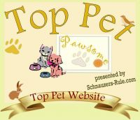 Schnauzers Rule, pet website award