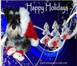 Christmas dog ecard, dog ecard, schnauzer card