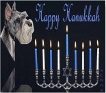 Hanukkah dog ecard, dog ecard, schnauzer card