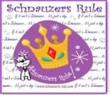 Schnauzers Rule ecard, dog ecard, schnauzer card, free dog ecards