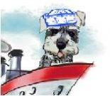 Travel e-card, bon voyage ecard, dog ecard, schnauzer card