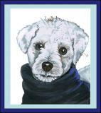 schnauzer gift, dog caricature