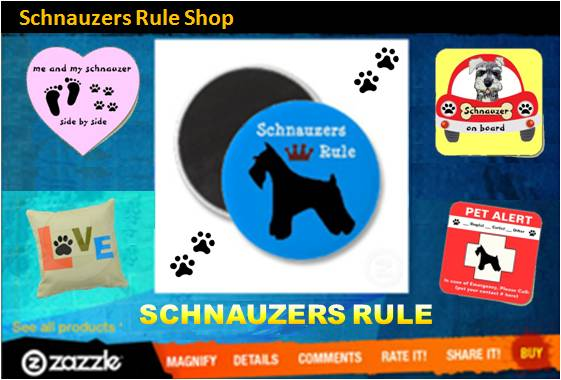 zazzle schnauzer shop